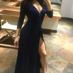 Dark Blue Quarter Sleeve Dress